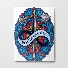 Polyarmory Metal Print
