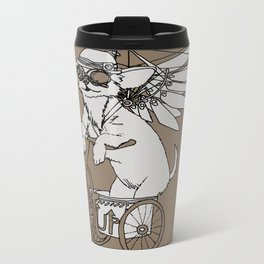 Steam Punk Chihuahua Metal Travel Mug