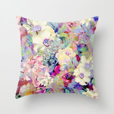 summery floral Throw Pillow