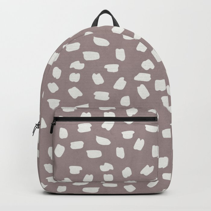 Simply Ink Splotch Lunar Gray on Red Earth Backpack