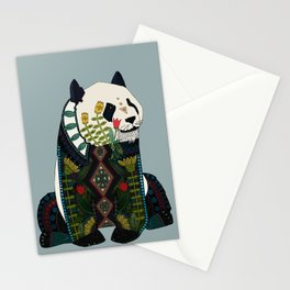 panda silver Stationery Cards