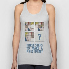 slinding tile puzzle make a president Unisex Tank Top