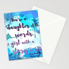 DAUGHTER OF WORDS | NEVERNIGHT BY JAY KRISTOFF Stationery Cards