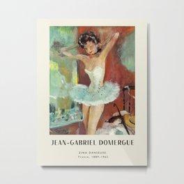 Poster-Jean-Gabriel Domergue-Zina danseuse. Metal Print