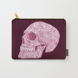 Ornamental Skull - Pink Version Carry-All Pouch