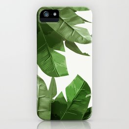 Tropical Palm Print Treetop Greenery iPhone Case