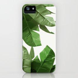 Tropical Palm Print Treetop Greenery iPhone Case
