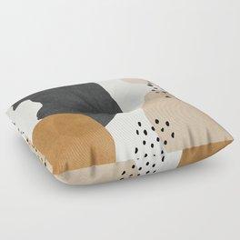 Woman silhouette art, Mid century modern art Floor Pillow