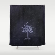 The White Tree Shower Curtain