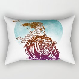 Warrior Bear Rectangular Pillow