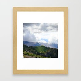 Saint Under The Clouded Sky Framed Art Print