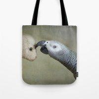 friendship Tote Bags featuring Friendship by Ellen van Deelen