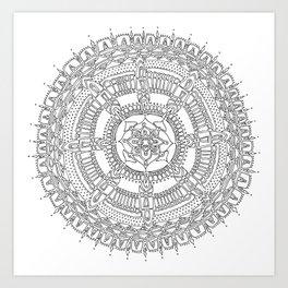 Exhilarating on White Background Art Print