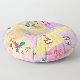 San Francisco map Floor Pillow