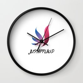 Jussaplaud Female Logo Wall Clock