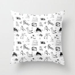 Cat Things Throw Pillow