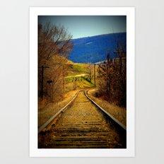 railway edited Art Print
