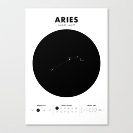 Aries – Star Constellation Canvas Print