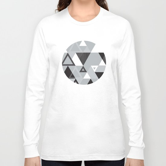 Silver Transparency Long Sleeve T-shirt