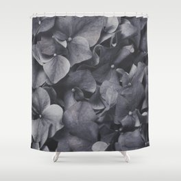 Blue Bed Shower Curtain