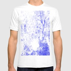 Blue trees White Mens Fitted Tee MEDIUM