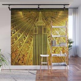 Empire State Building Lobby Art-Deco Sunburst Portrait Wall Mural