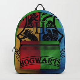 Wizard School House Crest HP Backpack