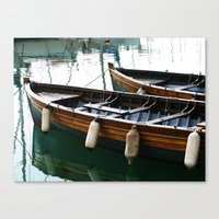 marina Canvas Prints featuring Marina by Paper Possible