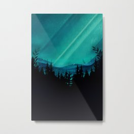 Magic in the Woods - Turquoise Metal Print
