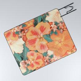 Aloha Orange Sherbet Picnic Blanket