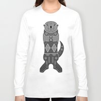 otters Long Sleeve T-shirts featuring Sea Otter by Hinterlund