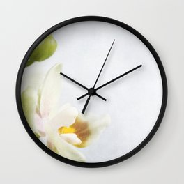 Cream Orchid Wall Clock