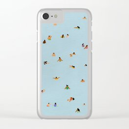 Dusty blue II Clear iPhone Case