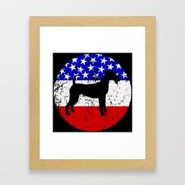 American Flag Irish Terrier Framed Art Print