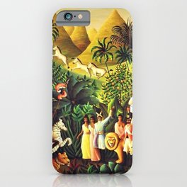 African American Masterpiece 'Une Agreable Rencontre' by Orville Bulman iPhone Case