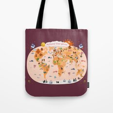Worldwide map for kids. Tote Bag
