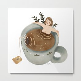 Tea Spa Metal Print