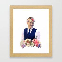 Tom Hiddleston FlowerCrown Framed Art Print