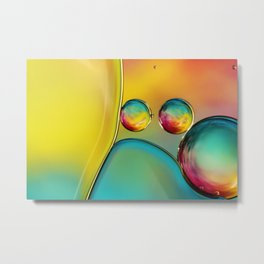 Abstract Oil Drops II Metal Print