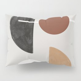 Moon and Sun Abstract Pillow Sham