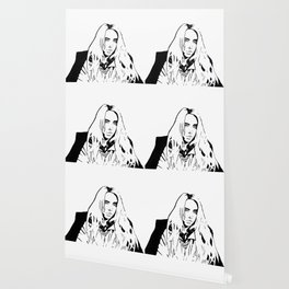 Billie Eilish Black and White Wallpaper