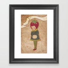 Strawberry head  Framed Art Print