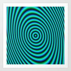 Turquoise Rings Art Print