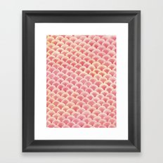 Coral Scales Framed Art Print