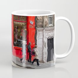 Red Store On Corner Coffee Mug