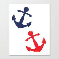 anchors Canvas Prints featuring Anchors by Indulge My Heart