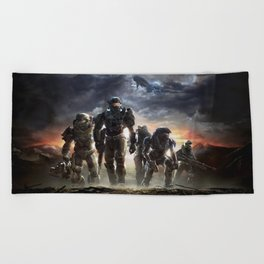 Halo Reach Noble team Beach Towel