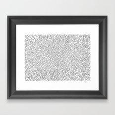 Sperm Pattern Framed Art Print