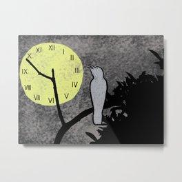 Wildlife's Clock Metal Print