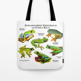 Endangered Treefrogs of Costa Rica Tote Bag